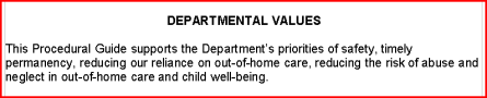 CPS's 'STATED VALUES